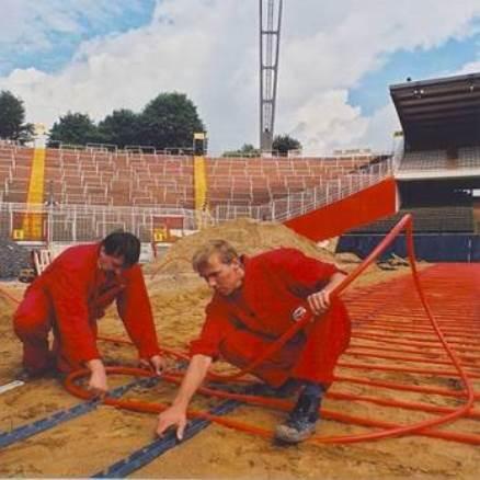 Система снеготаяния для спортивных площадок и стадионов