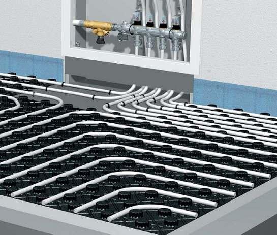 Технические особенности различных схем подключения водяного тёплого пола