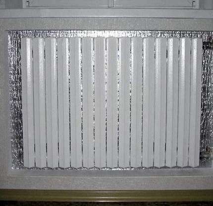 Технология установки отражателей для радиаторов