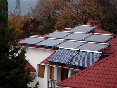 Горячее водоснабжение дома на солнечной энергии